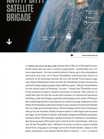 Wired Magazine Article - October 2015 | ThumbSat